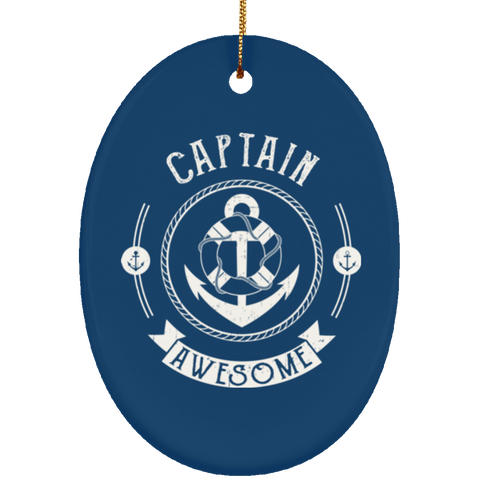 Captain Awesome Christmas Decoration Ornament - GoneBold.gift