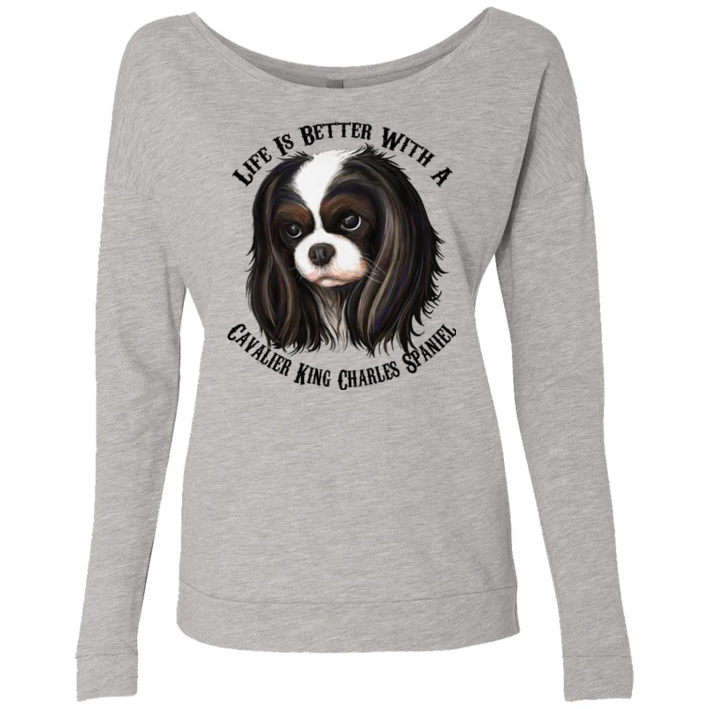 Cavalier King Charles Spaniel Scoop shirt, Life Is Better With  A Cavalier - GoneBold.gift