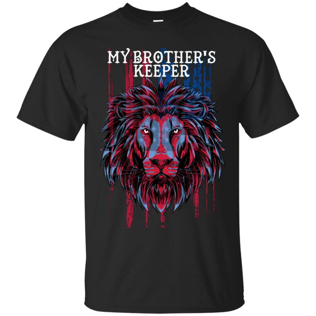 USA Flat Patriotic T-Shirt - My Brother's Keeper - GoneBold.gift