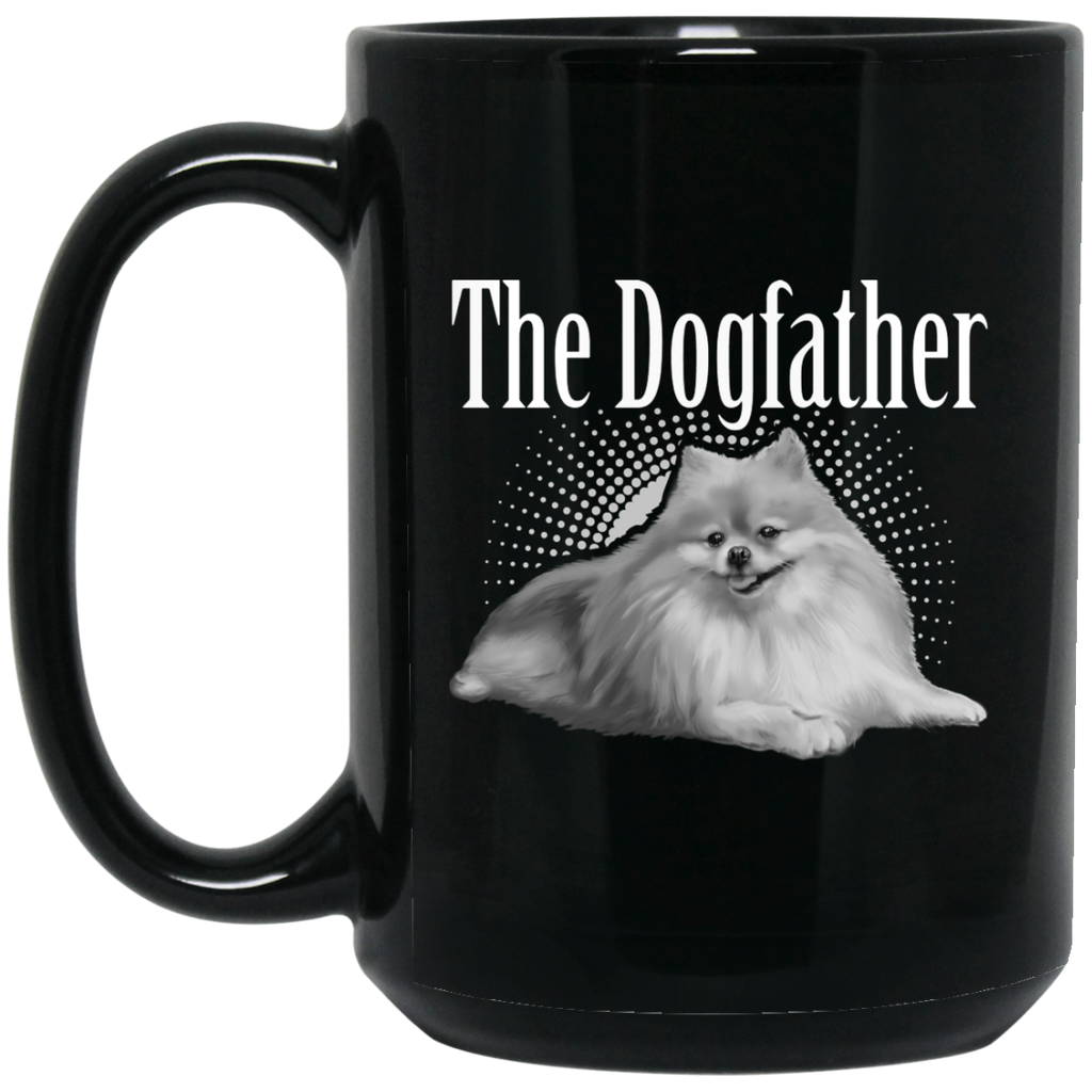 Pomeranian Mug - Dogfather Black Coffee Mugs - GoneBold.gift