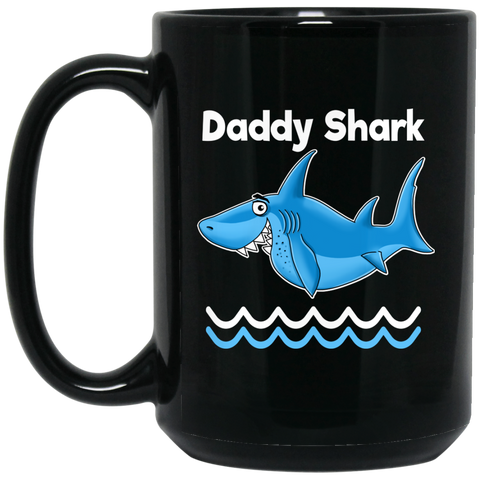 Dad Gifts - Daddy Shark Coffee Mugs - GoneBold.gift