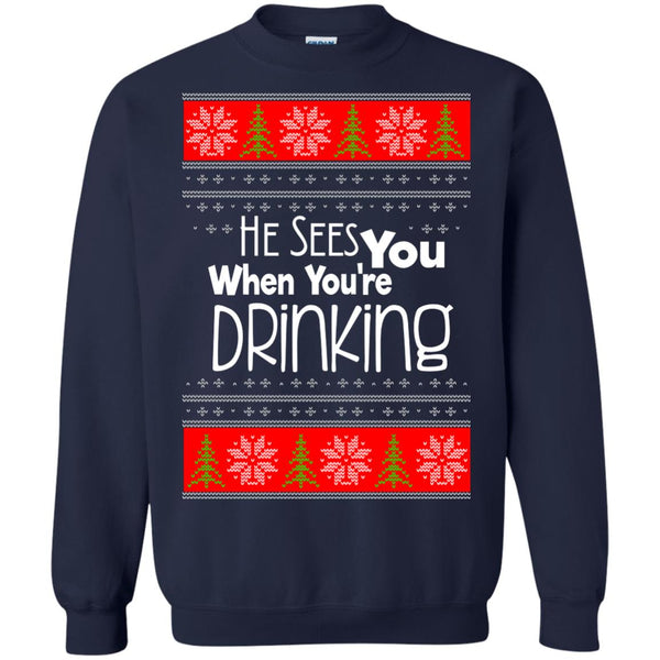 Christmas Ugly Sweater Funny Drinking Hoodies sweaters - GoneBold.gift