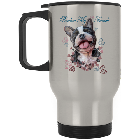 French Bulldog Travel Mug, Pardon My French