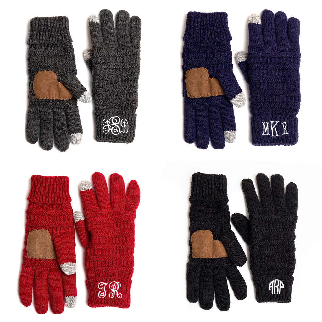 ADD YOUR INITIALS, Custom Gift, Monogram Gloves