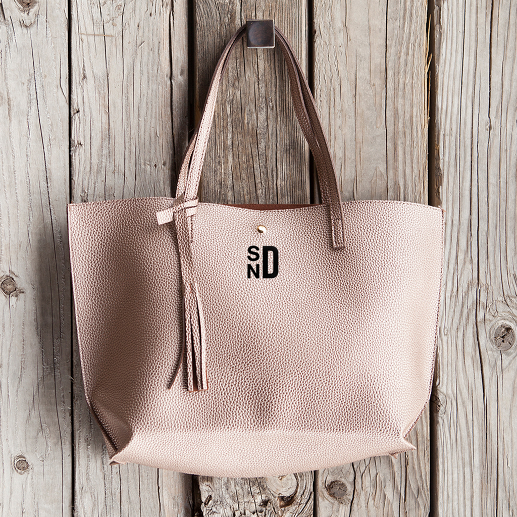 ADD YOUR INITIALS, Customizable Monogram Handbags, Custom Gift for Her - GoneBold.gift