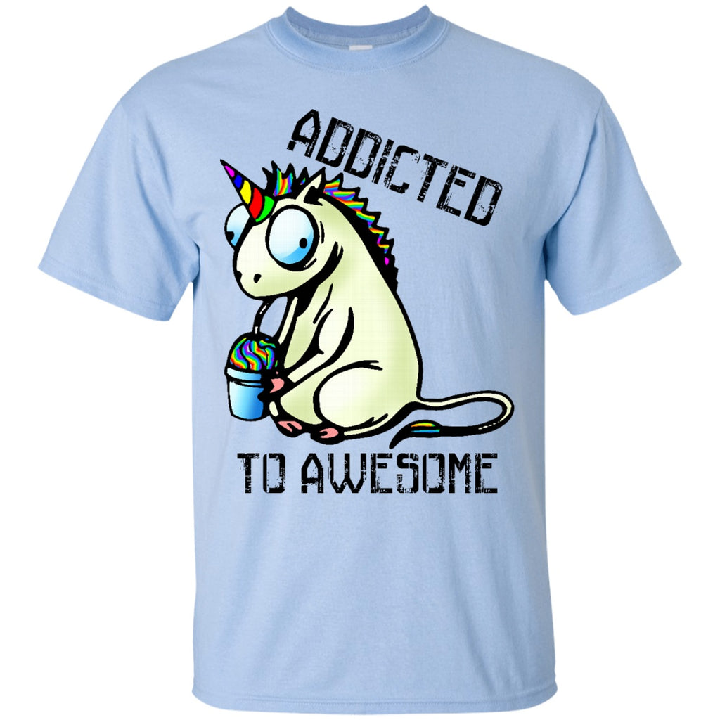 Addicted To Awesome Unicorn Shirts - GoneBold.gift