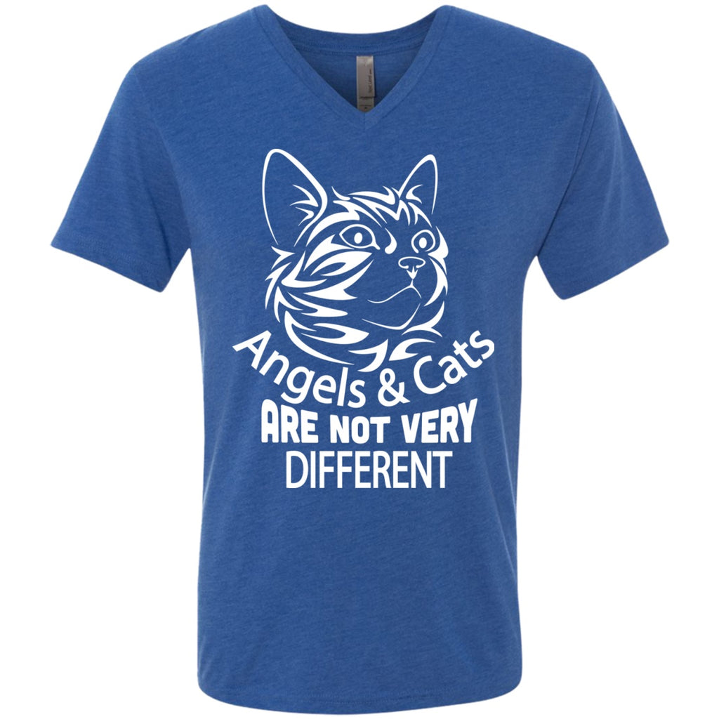 Angels And Cats - Men's Three-Blend Tees - GoneBold.gift