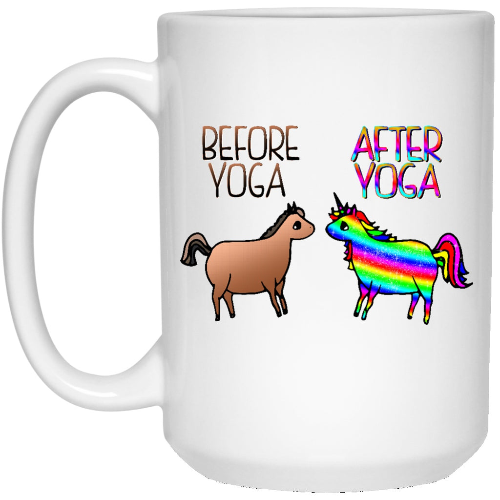 Before Yoga After Yoga Unicorn Mugs - GoneBold.gift