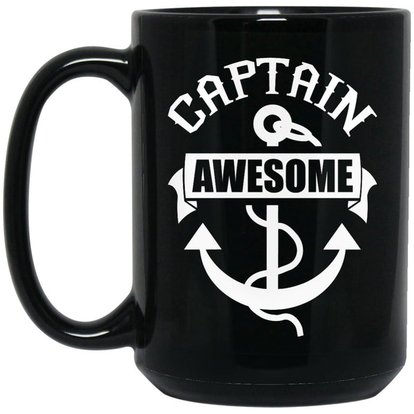 Captain Awesome Coffee Mug - Pirate Mug - GoneBold.gift