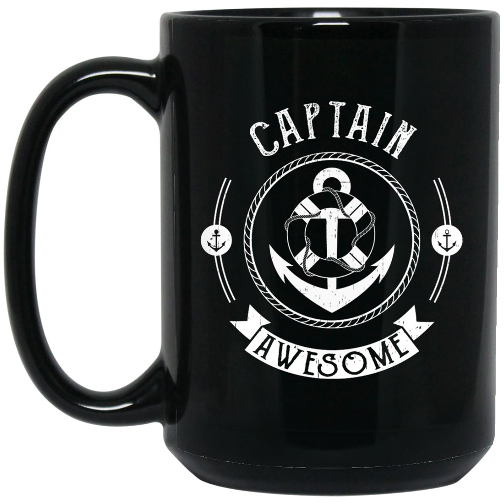 Captain Awesome Mug - Pirate Coffee Mug - GoneBold.gift
