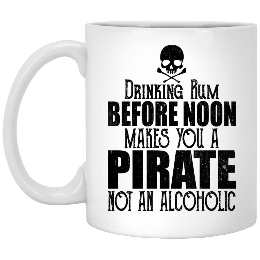 Drinking Rum Before Noon Makes You A Pirate Coffee Mugs and Beer Steins - GoneBold.gift