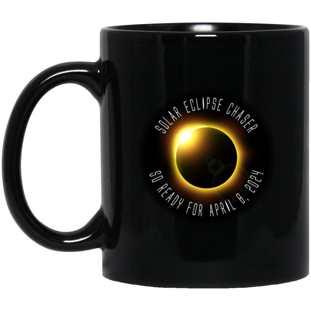 Eclipse 2024 Solar Eclipse Black Coffee Mugs - GoneBold.gift