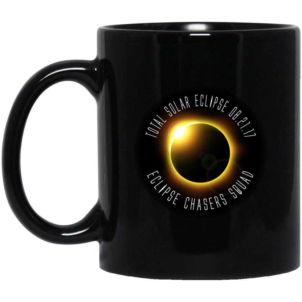ECLIPSE CHASERS Solar Eclipse Black Coffee Mugs - GoneBold.gift