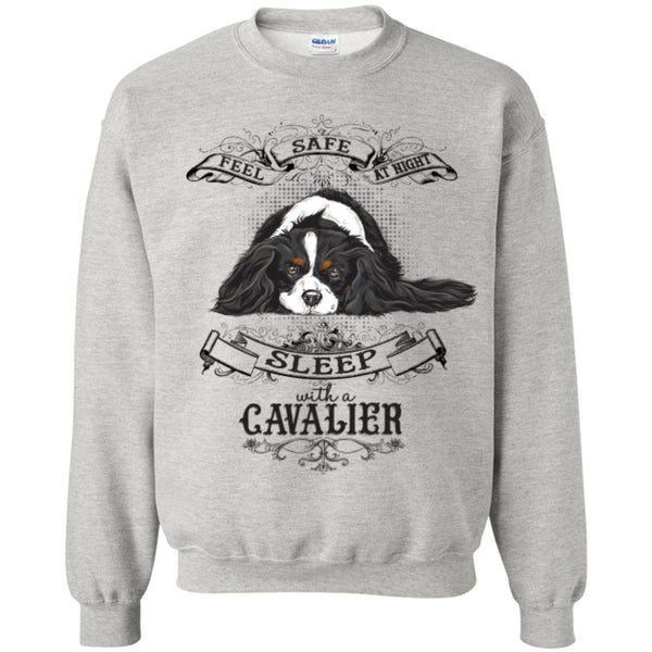 Feel Safe At Night Sleep With A Cavalier -- Pick your Tee or Hoodie - GoneBold.gift
