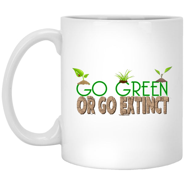 Go Green White Coffee Mugs & Beer Steins