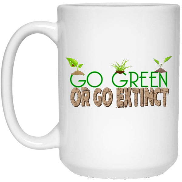 Apparel - Go Green White Coffee Mugs & Beer Steins