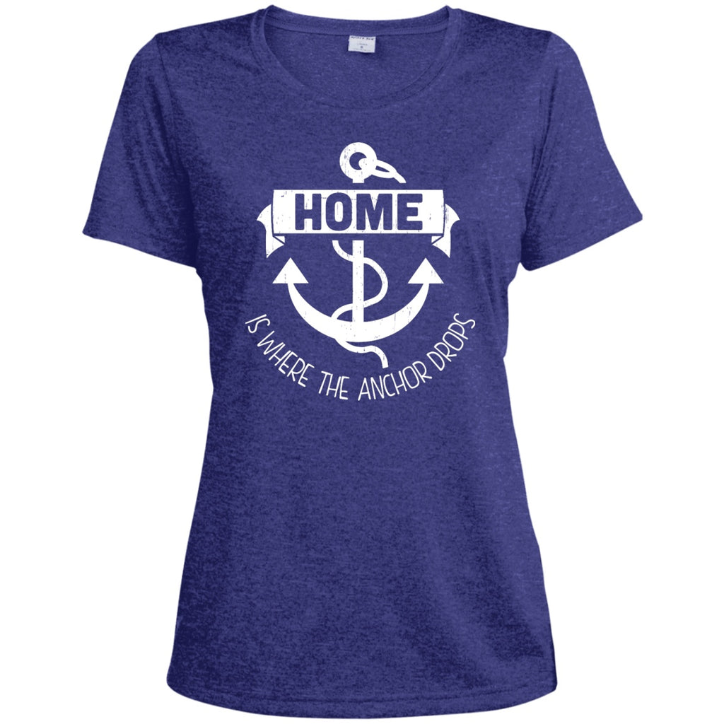 Home Is Where The Anchor Drops - Women's Shirts & Tanks - GoneBold.gift