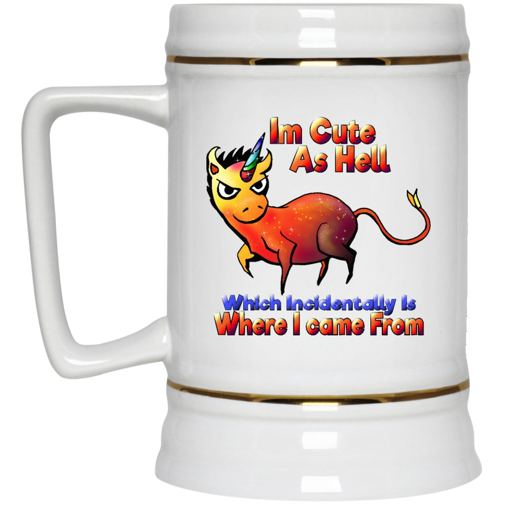 I'm Cute As Hell Unicorn Coffee Mug - GoneBold.gift