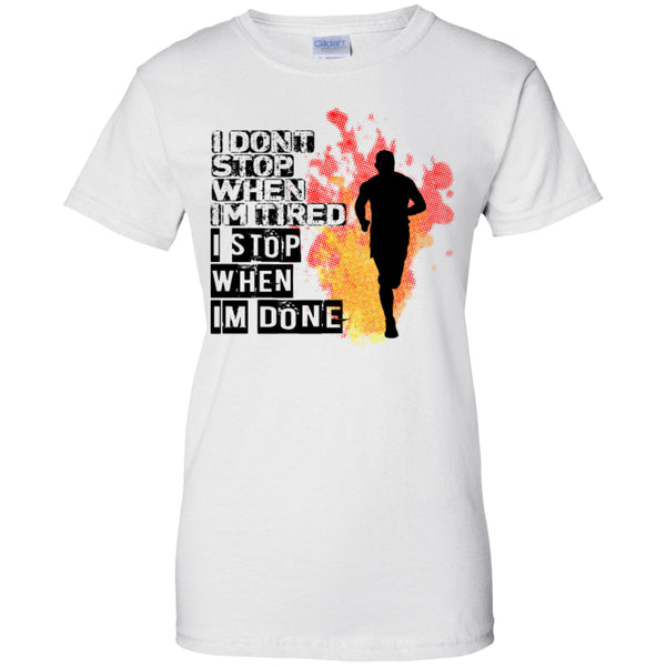 I STOP WHEN I'M DONE -Runners Tees and Hoodies -  - 11