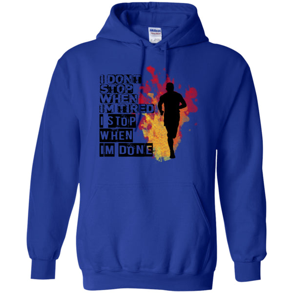 I STOP WHEN I'M DONE -Runners Tees and Hoodies - GoneBold.gift