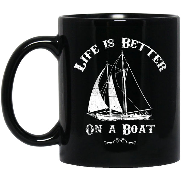 Life Is Better On A Boat Coffee Mug Pirate Mug