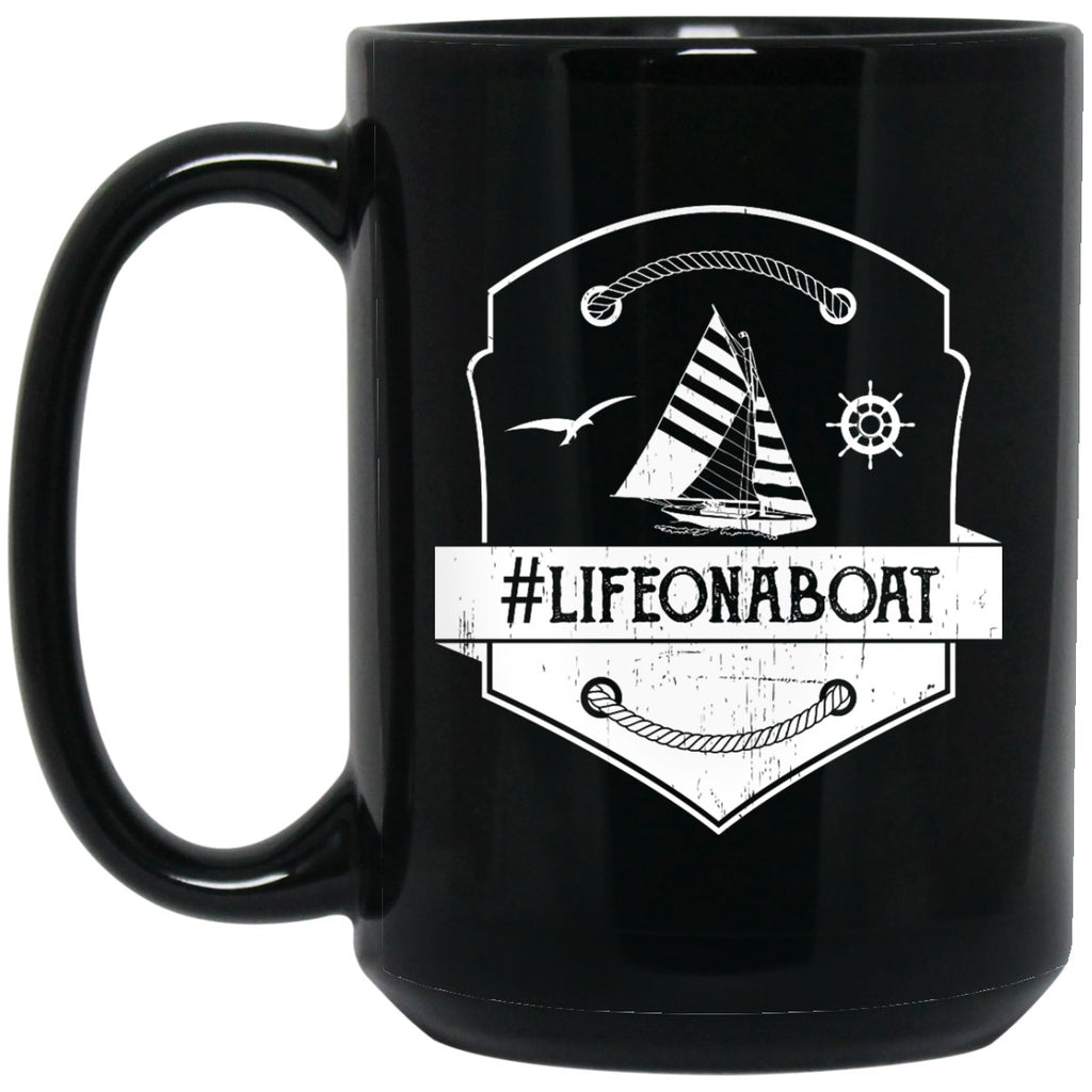 #Lifeonaboat Coffee Mugs - Pirate Mug - GoneBold.gift