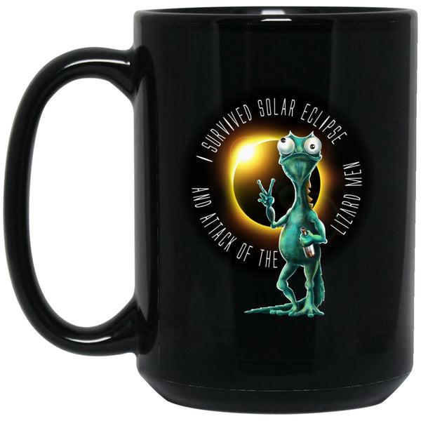 Apparel - LIZARDMEN Solar Eclipse Black Coffee Mugs