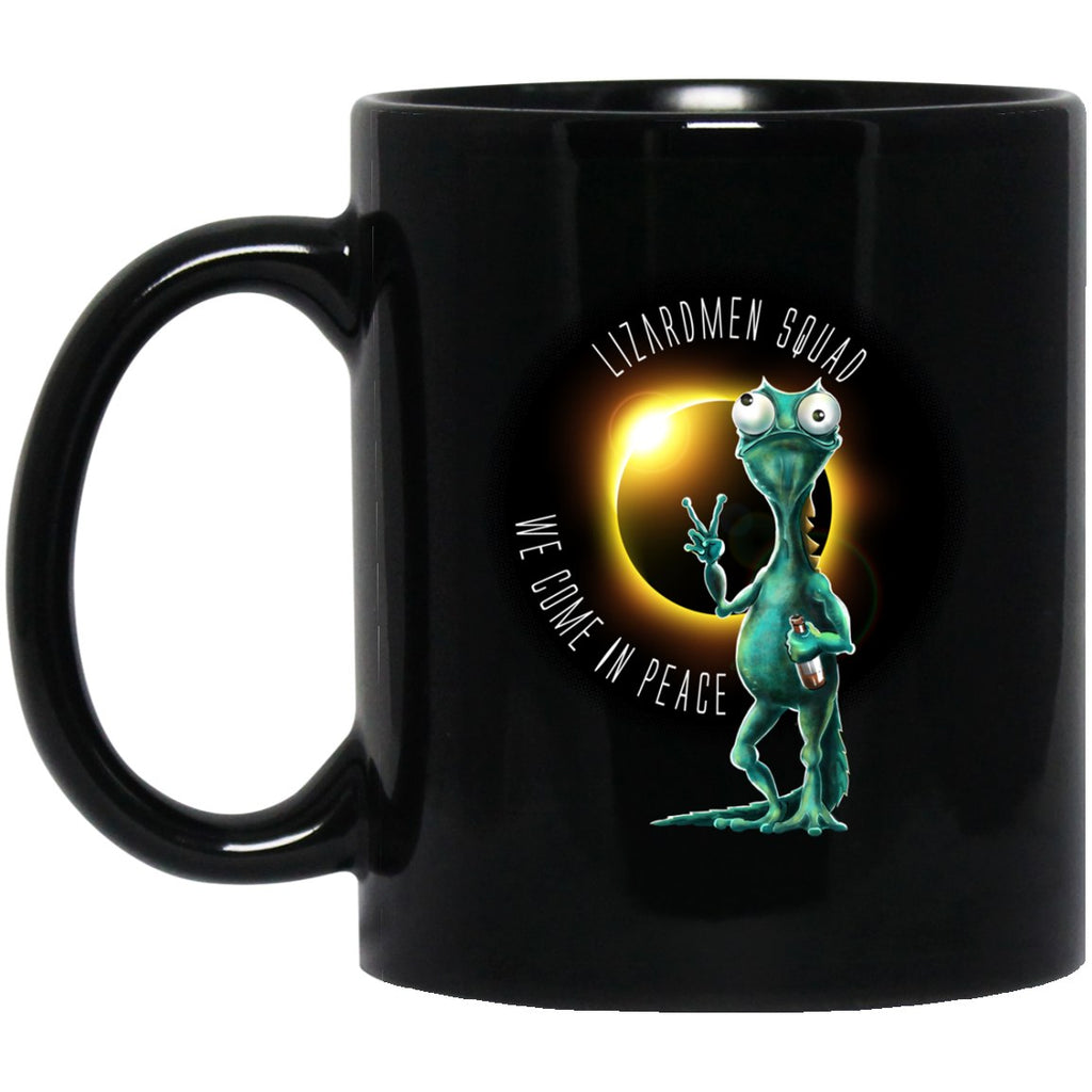 LIZARDMEN SQUAD Solar Eclipse Black Coffee Mugs - GoneBold.gift