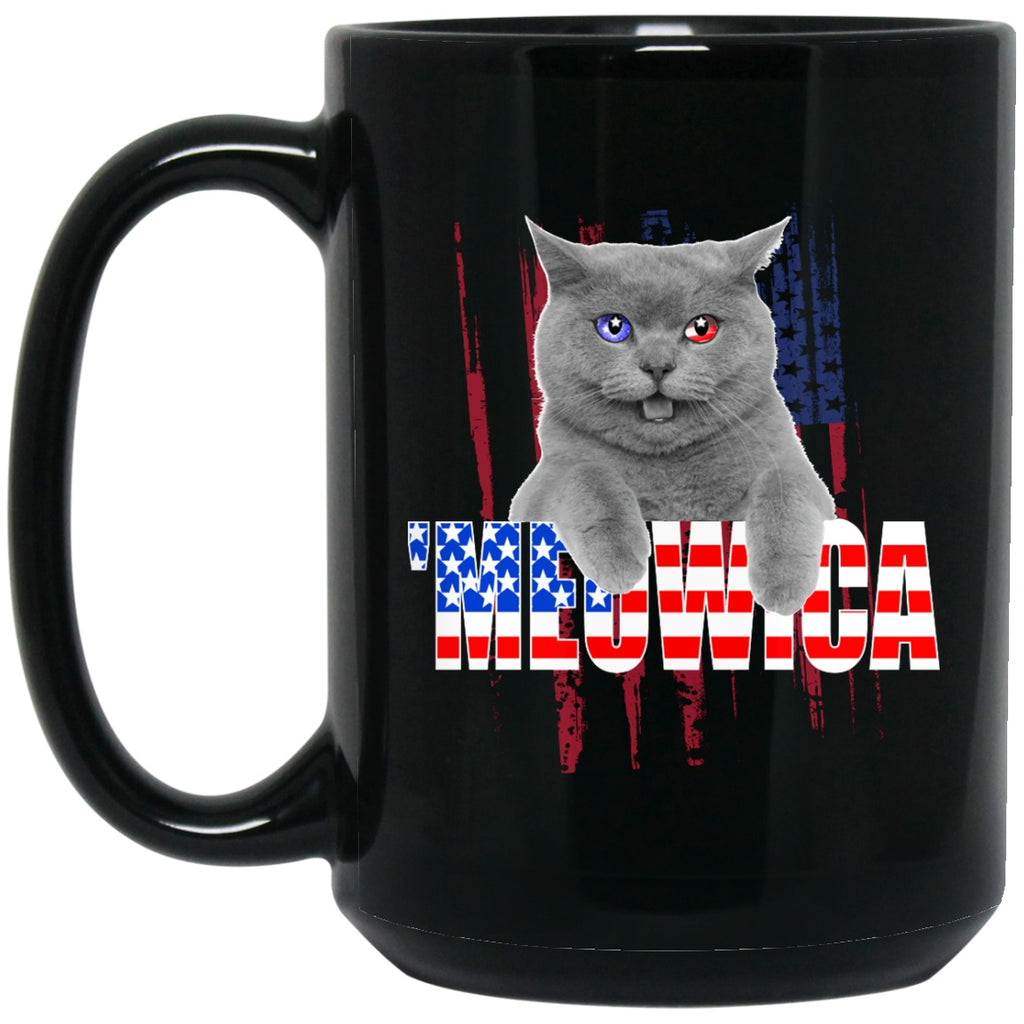 Meowica Patriotic Cat Mugs - GoneBold.gift