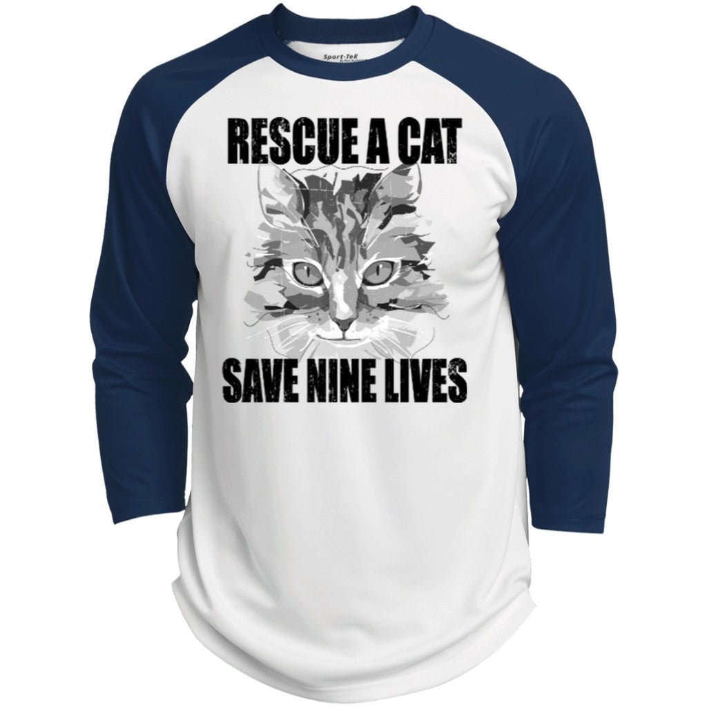 Rescue A Cat Save Nine Lives Long Sleeve Shirts - GoneBold.gift