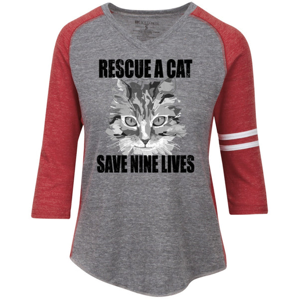 Apparel - Rescue A Cat Save Nine Lives Long Sleeve Shirts