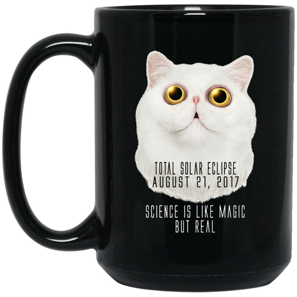 Apparel - SCIENCE Cat Solar Eclipse Black Coffee Mugs
