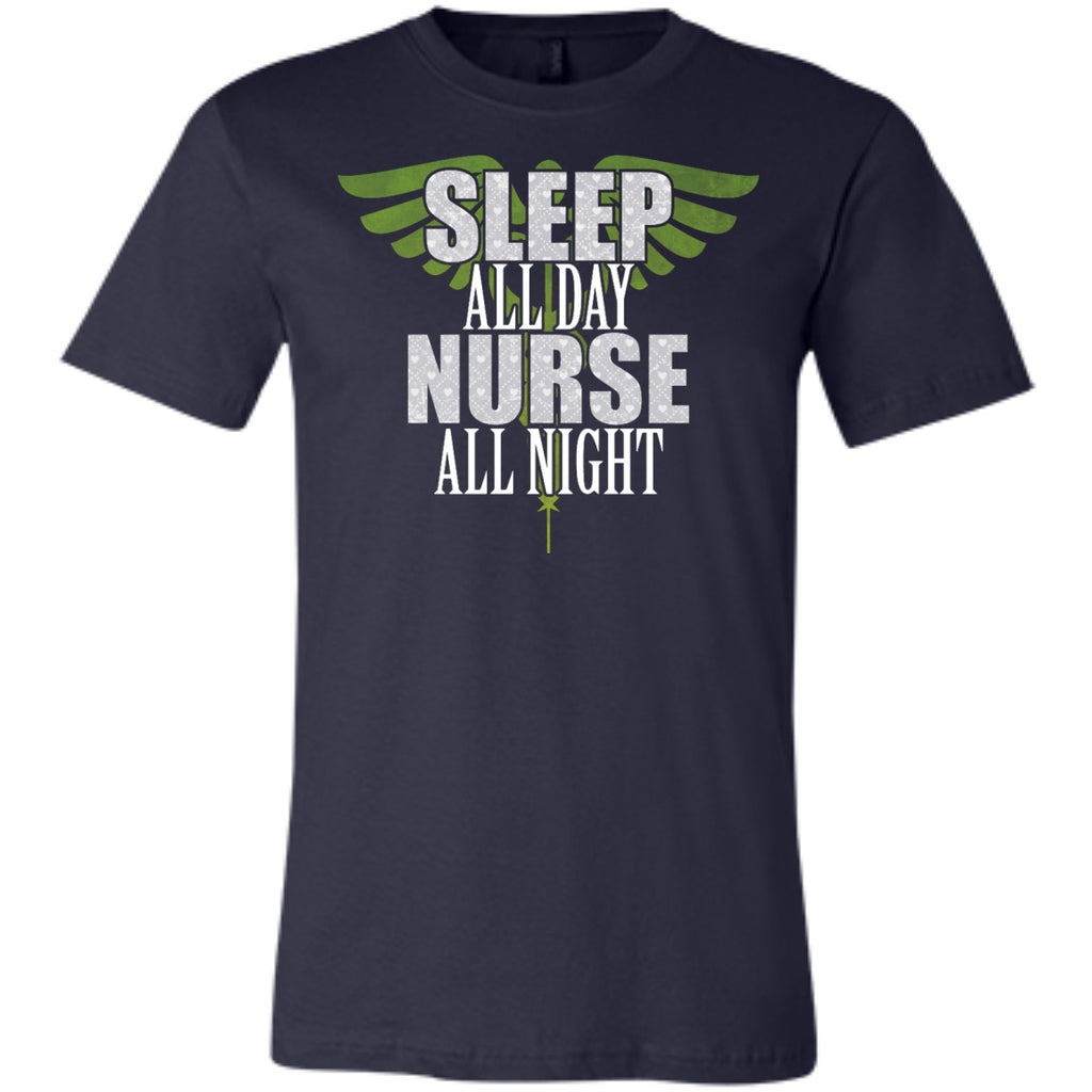 Sleep All Day Nurse All Night Tanks and Tees - GoneBold.gift