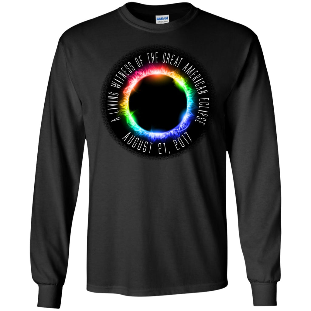 Solar Eclipse Unisex Shirts - A Living Witness - GoneBold.gift