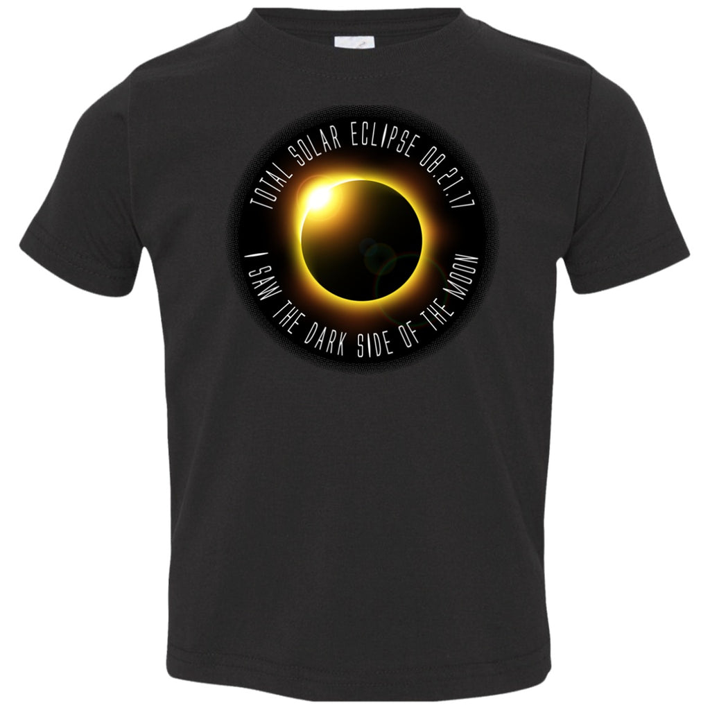 Total Solar Eclipse Youth Shirts for Boys Girls & Toddlers - I Saw The Dark Side Of The Moon - GoneBold.gift