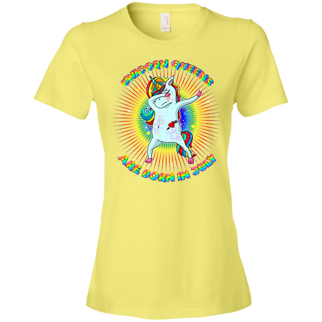 Unicorn Queens Are Born In July T-Shirt for women girls - GoneBold.gift