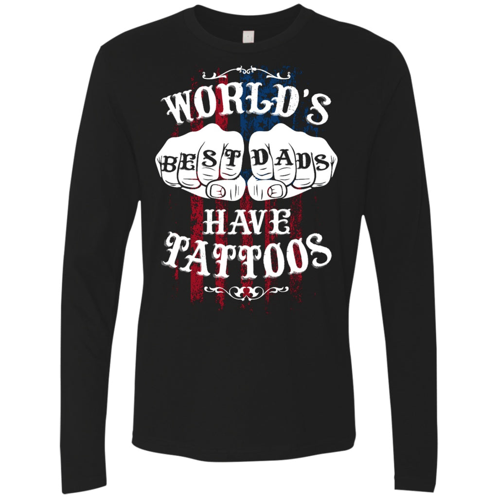 World's Best Dads Have Tattoos Next Lever Premium Shirts & Tanks for Men - GoneBold.gift