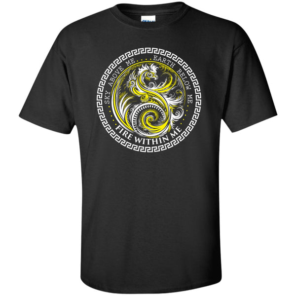 Yin Yang Yellow Dragon Swirl - Women's Tees and Tanks