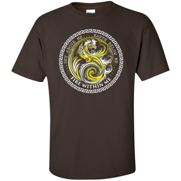 Yin Yang Yellow Dragon Swirl - Women's Tees and Tanks - GoneBold.gift - 3