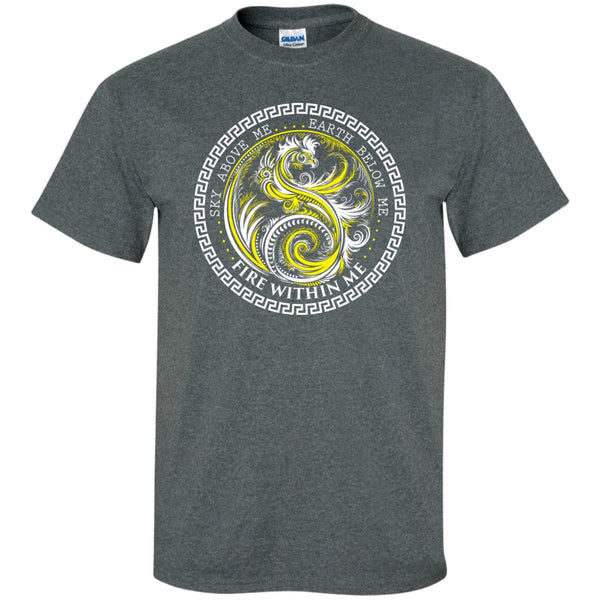Yin Yang Yellow Dragon Swirl - Women's Tees and Tanks - GoneBold.gift - 4