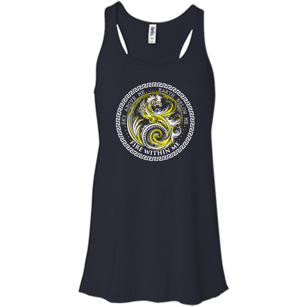 Yin Yang Yellow Dragon Swirl - Women's Tees and Tanks - GoneBold.gift - 9