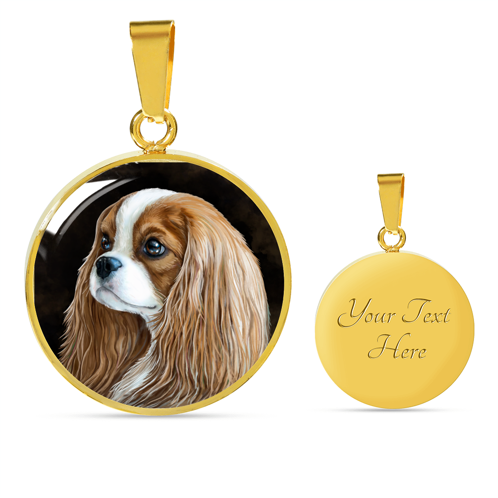 Cavalier King Charles 18k Gold Finish Necklace and Bngle - GoneBold.gift