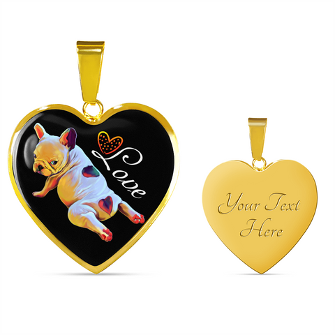 French Bulldog Lover Luxury 18K Gold Necklace & Bangle - Customize Option