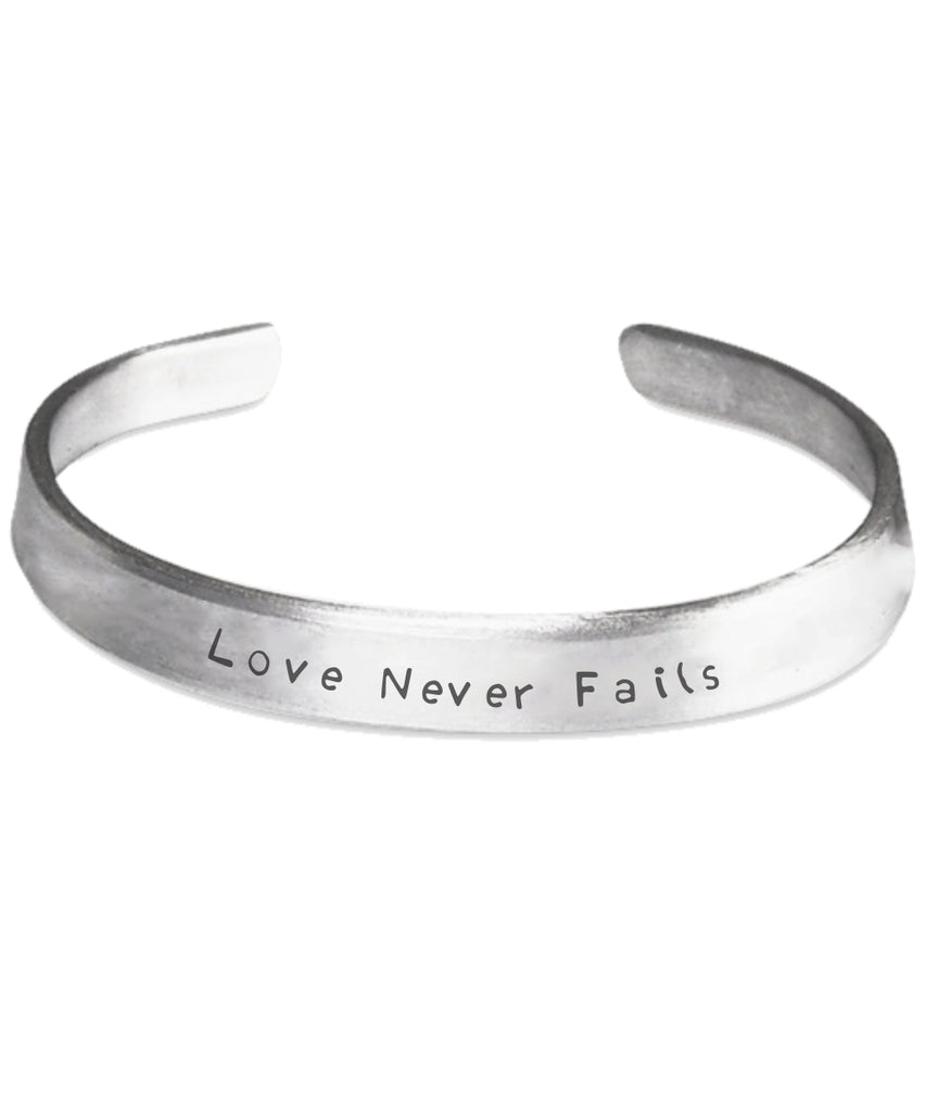 Love Never Fails - Hand Engraved Bracelet - GoneBold.gift