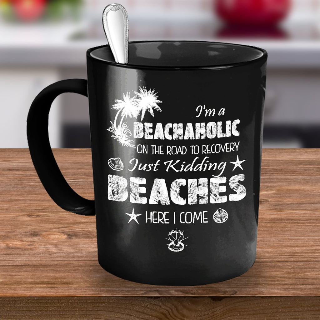Funny Family Vacation mug Beachaholic - GoneBold.gift