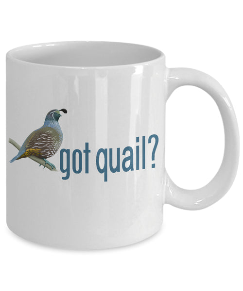 Coffee Mug - Got Quail - California Valley Quail Mug