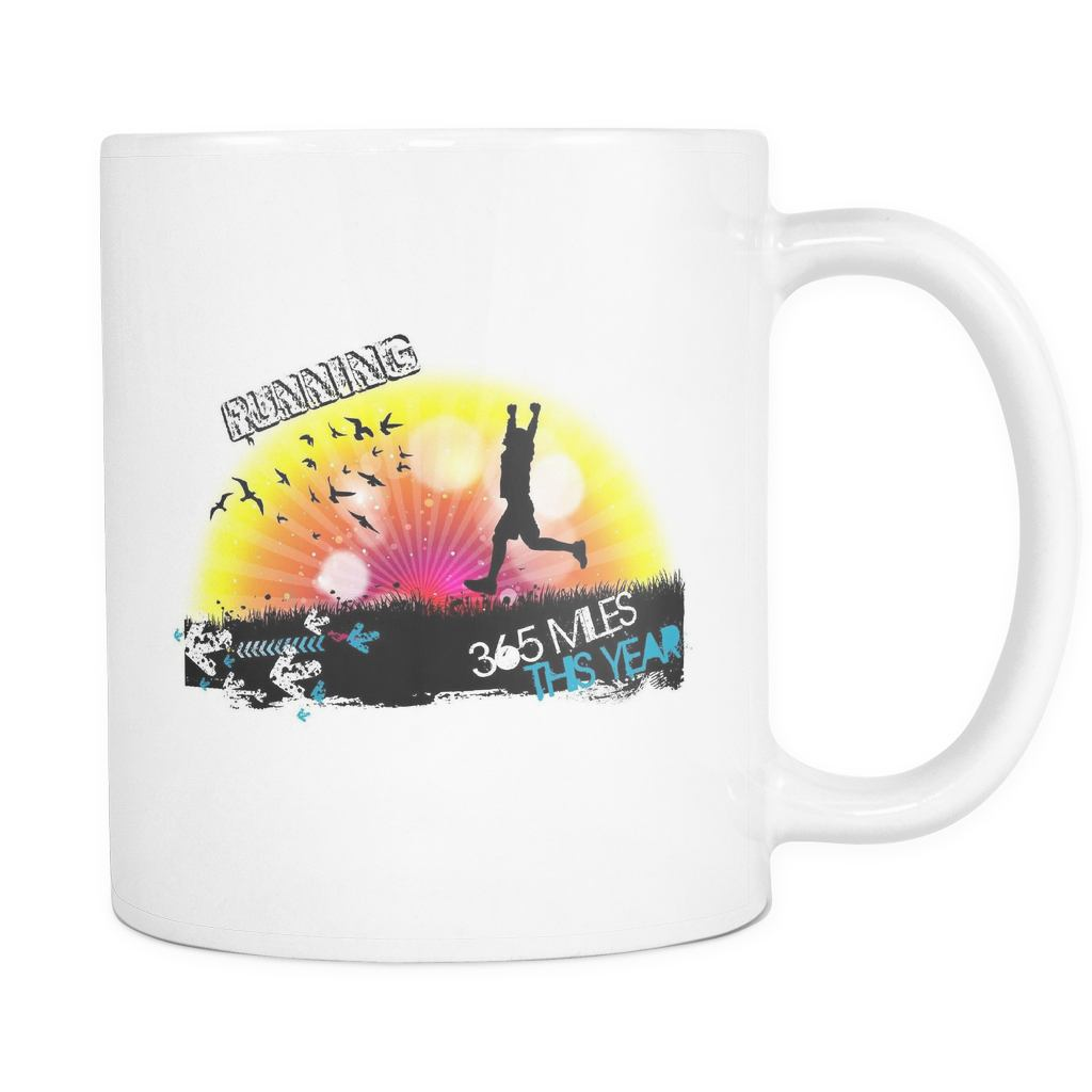 Running 365 Miles This Year - Resolution - 11 oz Mug - GoneBold.gift
