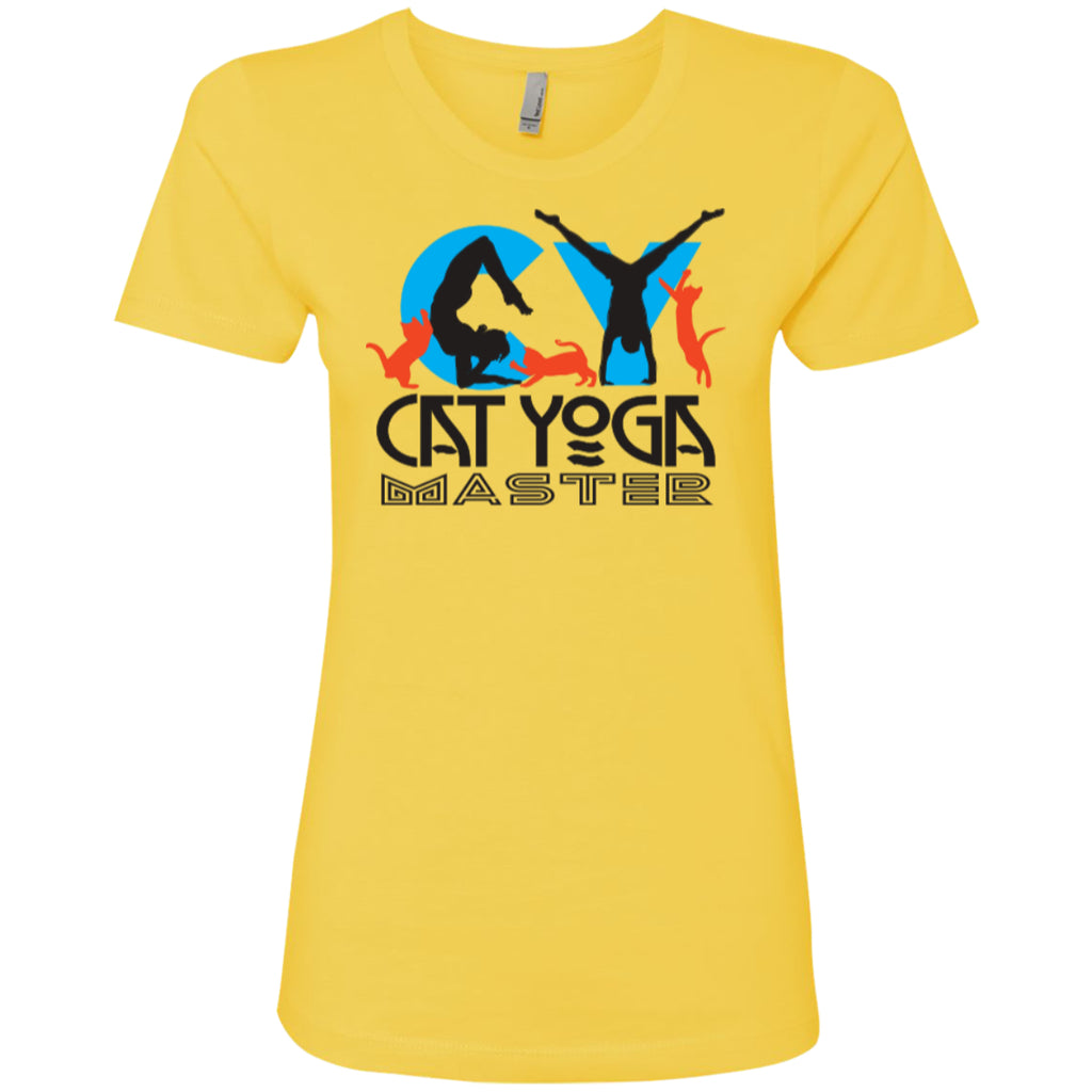 CAT YOGA MASTER - Next Level Ladies' Boyfriend Tee - GoneBold.gift