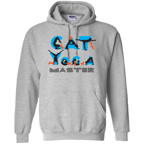 CAT YOGA MASTER -  Pullover Hoodie 8 oz
