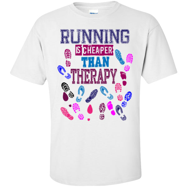 RUNNING THERAPY - Custom Ultra Cotton T-Shirt -  - 3